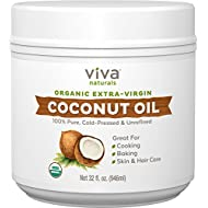 Viva Naturals Organic Extra Virgin Coconut Oil, 32 Ounce