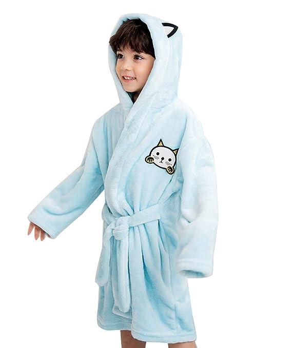 3034b40e4d6 Albornoz Niña Camisones Novedad Disfraz de Peluche Animales Ropa De Dormir  con Capucha Baño Costume