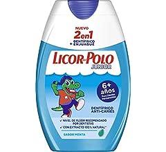 Licor del Polo Junior - Pasta de dientes, 6+ años, sabor fresa, 3 ...