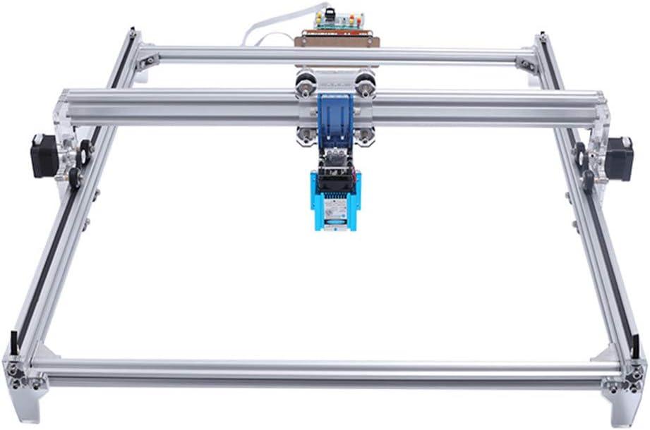 TOPQSC DIY Kits de grabador láser CNC 12V USB Máquina de grabado láser de escritorio, superficie de grabado 650X500mm, impresora láser de potencia ajustable,talla y corte madera (6550/10000mw)