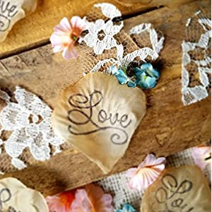 Table scatter, blush and teal flowers with lace wedding confetti, Flower Girl throw, DIY wedding, tossing petals, bridal shower confetti 2