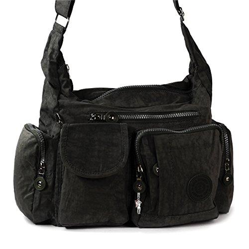 Bag Street - Bolso cruzados de material sintético para mujer negro negro 39