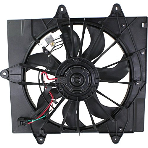 (Radiator Fan Assembly for PT CRUISER 04-05 w/Turbo; Single plug)