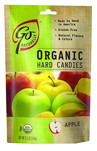 Go Organic Hard Candy - Apple - 3.5 oz - Case of 6 - 95%+ Organic - Dairy Free - Yeast Free - Wheat Free - Vegan (Cane Juice Apple Beauty)