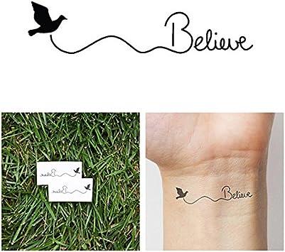 Tatuaje Temporal Tattify - Ave Cree - Volar (Juego de 2): Amazon.es ...