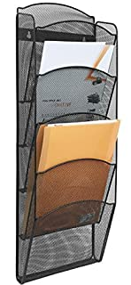 Greenco Mesh 5 Slot Wall Mounted Magazine Rack Holder, Black (GRC2579) (B01IROV4OQ) | Amazon Products