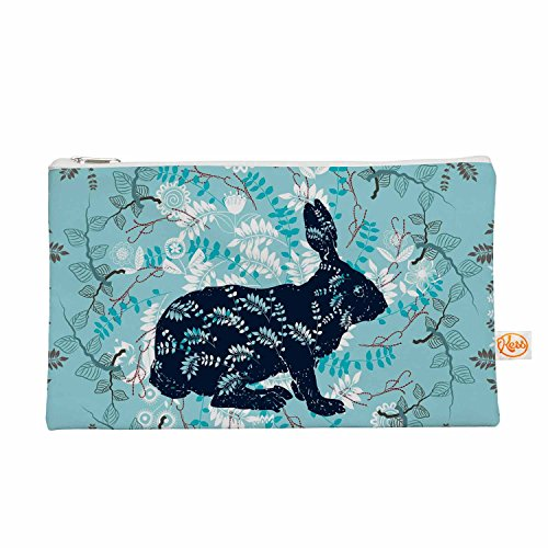 "KESS InHouse Famenxt ""Bunny In The Jungle"" Blue Animals E..."
