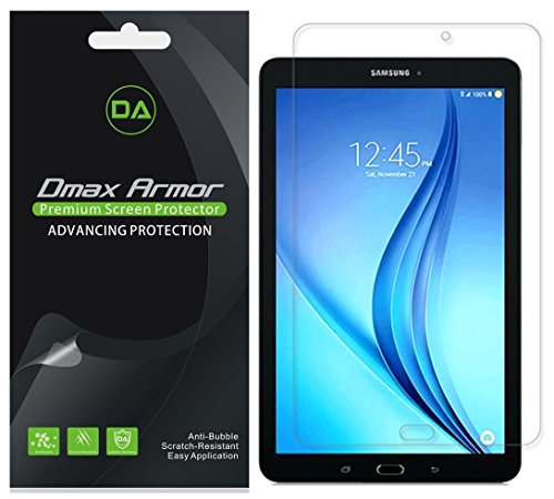 3-Pack-Dmax-Armor-Samsung-Galaxy-Tab-E-96-inch-Screen-Protector-Anti-Bubble-High-Definition-Clear-Shield--Lifetime-Replacements-Warranty--Retail-Packaging