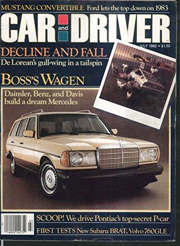CAR & DRIVER Volvo 760GLE Chevrolet Caprice Subaru Brat road tests 7 1982