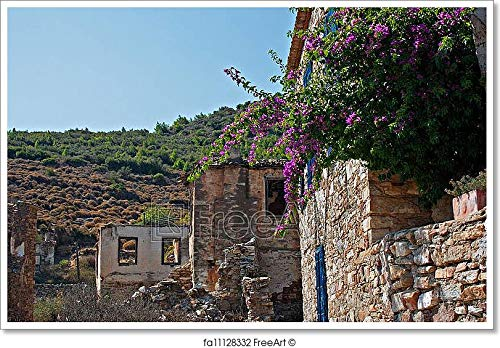 Barewalls Old Abandoned Greek/Turkish Village of Doganbey, Turkey Paper Print Wall Art (24in. x 36in.)