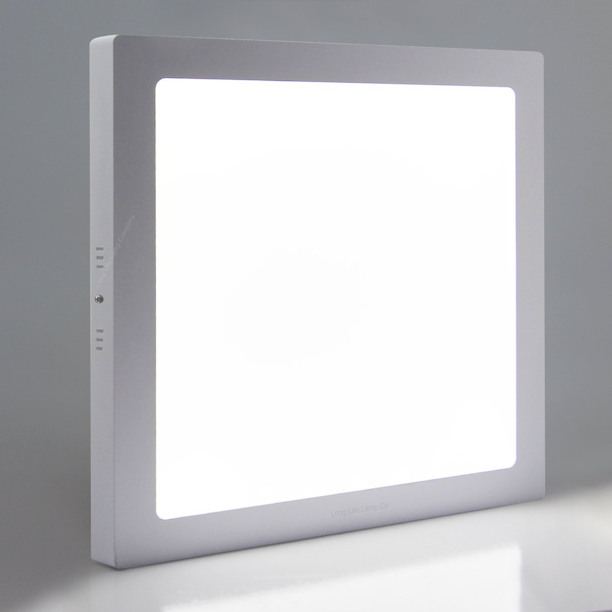 24W LED Square Surface Mount Ceiling Panel Down Light Cool White 6500K Super Bright [Energy Class A+] Long Life Lamp Company
