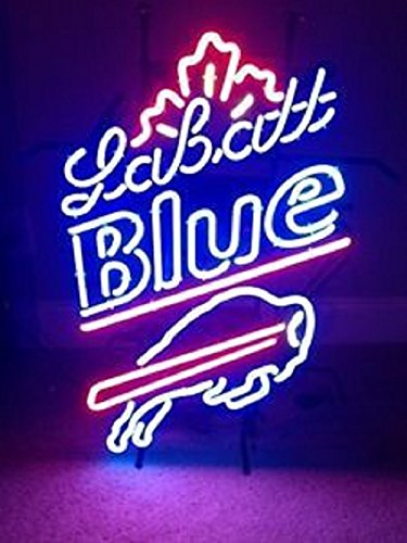 "Urby™ 24""x20"" Labatt Blue Buffalo Neon Light Sign Beer for sale  Delivered anywhere in USA"
