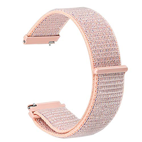 Band for Samsung Galaxy Watch 42mm / Active 40mm,TRUMiRR 20mm Hook & Loop Watchband Woven Nylon Strap Quick Release Bracelet for Gear Sport, Gear S2 Classic, Garmin Vivoactive 3, Ticwatch 2/E