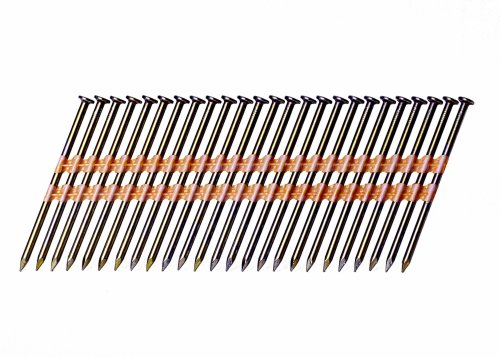 Grip-Rite GR014 Round Head 3-Inch by .131-Inch by 21 Degree Plastic Collated Vinyl Coated Framing Nail (4,000 per Box)