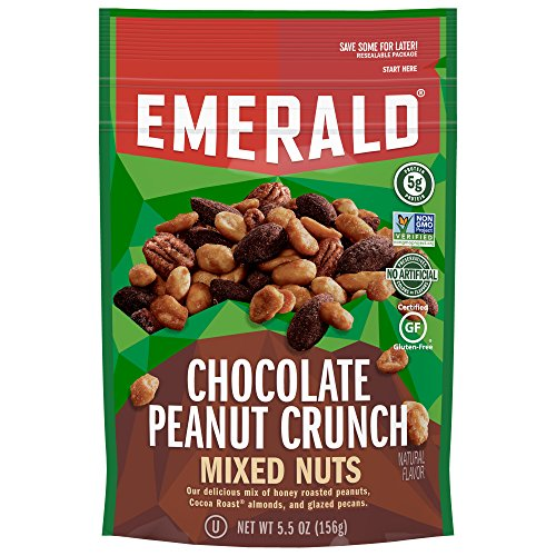Emerald Nuts, Salty Sweet Chocolate Peanut Butter Mixed Nuts, 5.5 Ounce Resealable Bag