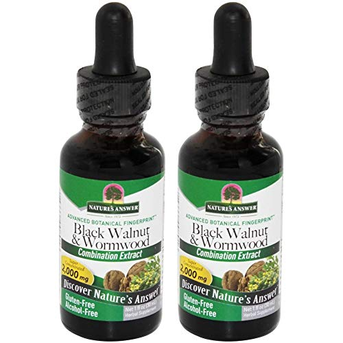 - Natures Answer Black Walnut and Wormwood Complex Alcohol Free - 2000mg - Gluten Free - 1 fl oz (Pack of 2)