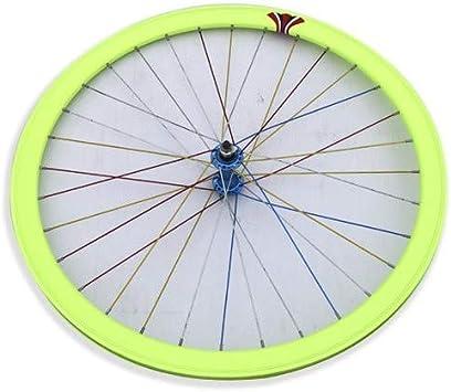 Riscko Wonduu 003l Rueda Delantera Bicicleta Personalizada Fixie Talla L Verde Fluor: Amazon.es: Deportes y aire libre