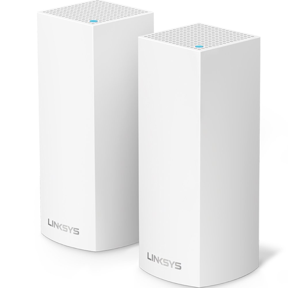 Linksys Velop Tri-band Whole Home WiFi Mesh System, 2-Pack (coverage up to 4000 sq. ft), Router Replacement for Home Network, Works with Amazon Alexa