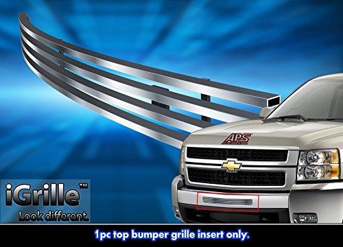 Stainless Steel eGrille Billet Grille Grill For 2007-2013 Chevy Silverado 1500/07-10 2500/3500 Air (Chevrolet Silverado Stainless Steel Billet)