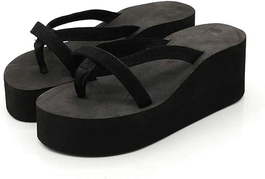 T-JULY Summer Shoes FPlatform Sandals Women High Heel Zapatillas ashion Straped Slippers Beach Flip