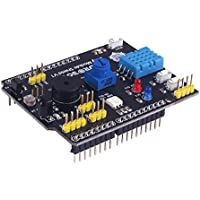 MakerFucos Arduino Expansion Board Multifunction Expansion Board Include DHT11 Humidity Sensor and LM35 Temperature Sensor 9 in 1 Compatible with Arduino UNO R3
