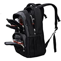 ASPENSPORT Laptop Bags for Men Women Travel Computer Notebook Backpacks High School College Students for Girls Boys Multi-Functional Pocket Trip Daypack Black/Gray