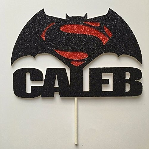 Batman VS Superman Custom Cake Topper, Birthday Boy Cake Topper, The Justice League, Batman Vs Superman Movie Cake, Superhero Party Decor