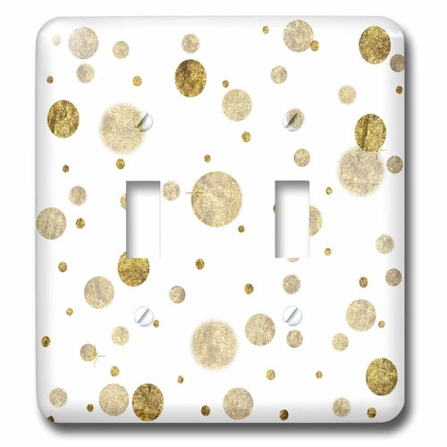 3dRose lsp/_213072/_2Chic Gold Bling Bokeh Confetti Dots Double Toggle Switch