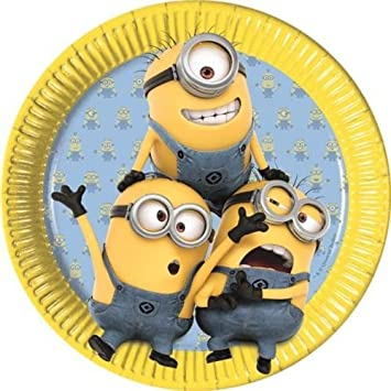 Procos Lovely Minions Paper Party Dinner Plates (8 Pack)  sc 1 st  Amazon.com & Amazon.com: Procos Lovely Minions Paper Party Dinner Plates (8 Pack ...