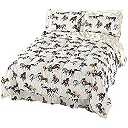 All-Over Horses Comforter and Sheets Set (Queen)
