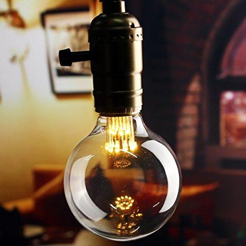 E27 G80 1W Vintage Antique Edison Filament COB Warm White LED Bulb Light Lamp - Malls Island Outlet Long