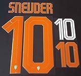 SNEIJDER #10 Holland Away 2015-2016 Soccer Jersey Netherlands Football Shirt Print Transfer Name Number Set Adults