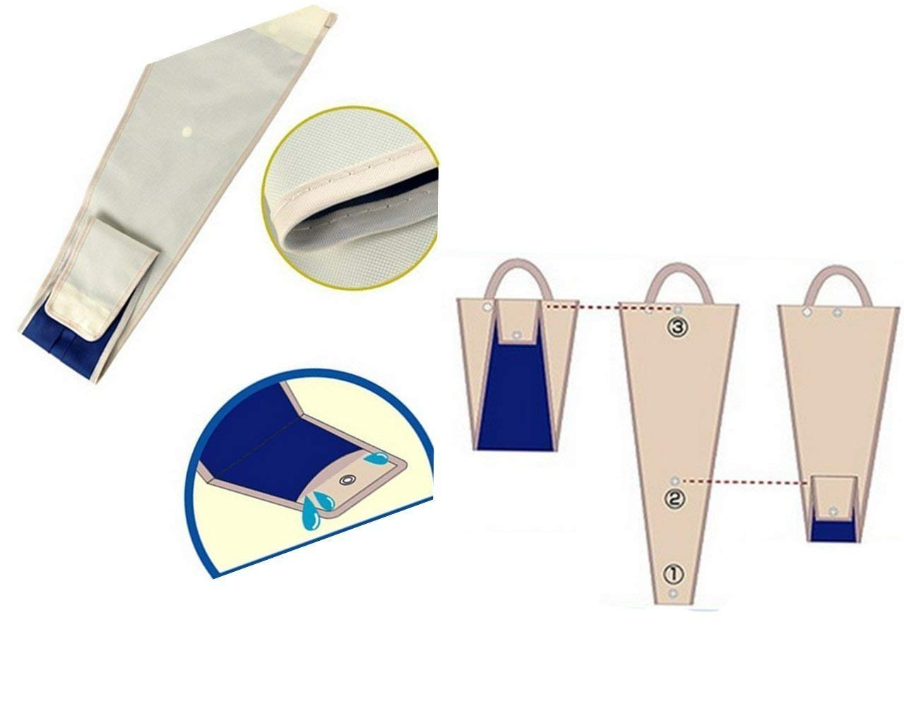 Home-Neat Sac de Stockage Parapluie pour Voiture en Nylon Voyage