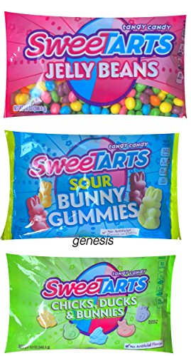 Sweetarts Candy Set Jelly Beans, Sour Bunny Gummies & Chicks