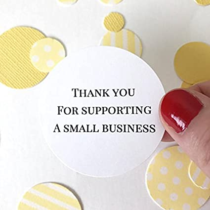 Sweet thymes 40 supporting small business stickers thank you round circle sticker favor bag gift