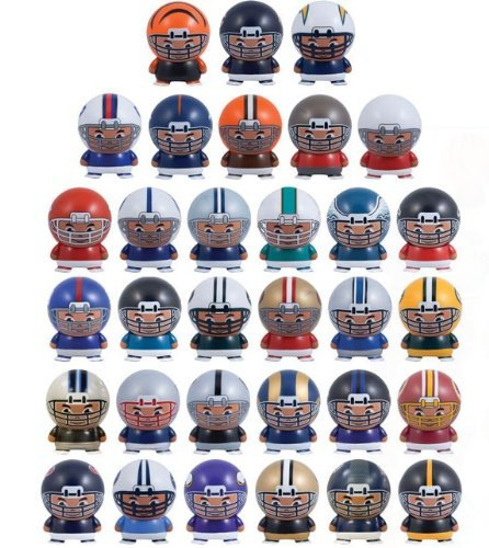 Mix of 8 NFL Random Football Mini Buildables Figures with Logo 2.5 Inch - 8 Teams in Set - Kids Birthday Cake Toppers Boys Superbowl Helmet Party Favors Vending Machine Lot]()