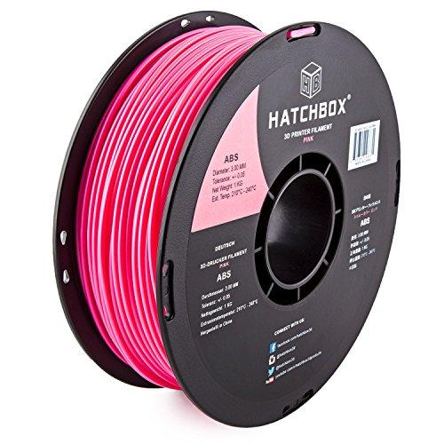 HATCHBOX 3D ABS 1KG3 00 PNK Filament Dimensional product image