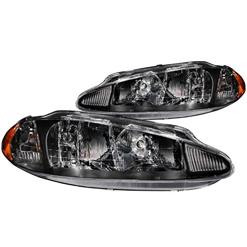 Anzo USA 121027 Dodge Intrepid Crystal Black Headlight Assembly - (Sold in Pairs)