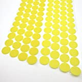 300pcs (150 Pairs) Self Adhesive Dots, Heat Resistant Sticky Back Hook Loop Coins Adhesive Tapes, 3/4'' Diameter, Waterproof Sticky Glue Fastener, Fits for School/Office/Home, Yellow