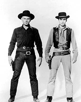 Horst Buchholz and Yul Brynner in The Magnificent Seven ...