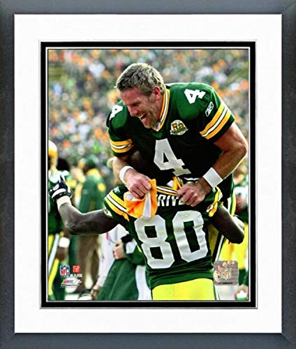 Brett Favre & Donald Driver Green Bay Packers Action Photo (Size: 12.5