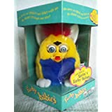Furby BABIES - Yellow Body with Blue Belly and White Feet