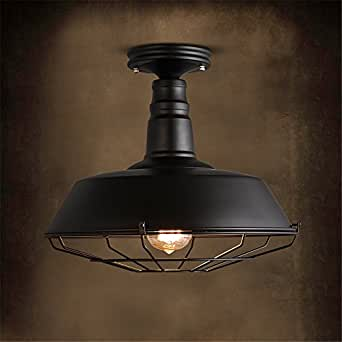 BRIGHTLLT Lámpara de techo retro LED industrial viento ...