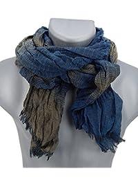 Ella Jonte mens scarf blue brown