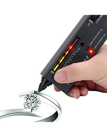 Digital Accuracy Diamond Tester,Premium Portable Selector Detector Gemstone Jewelry Gold Testing Tool with LED