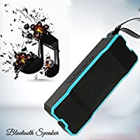 Waterproof Bluetooth Speaker, POWERIVER 15W IPX65 Shower&Marine Wireless Bluetooth 4.1 Speaker ,Waterproof, Shockproof & Dustproof for iPhone, iPad&iPod Outdoor Speaker (Blue)