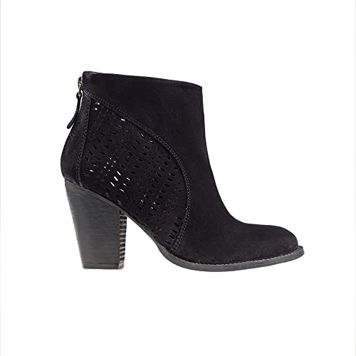803fd1ae9f9 Forever Love Me London Womens Farah Black Suede Leather Ankle Boot ...