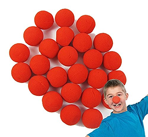 LefRight TM 60pcs Foam Red Clown Nose Circus Wedding Party Halloween Carnival Costume Activity -