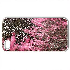 Autumn Flowers - Case Cover for iPhone 4 and 4s (Watercolor style, White)
