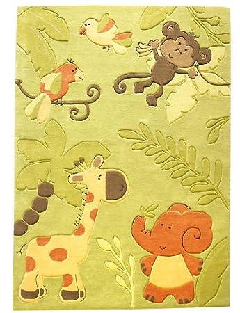 Kinderteppich grün  Kinderteppich Teppich Zoo, Farbe Grün, 120x180: Amazon.de: Küche ...